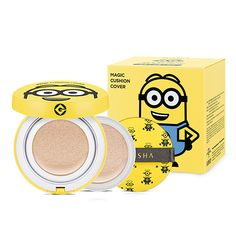 MISSHA MINIONS Magic Cusion Cover Special Set - Strawberrycoco