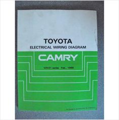toyota camry electrical wiring diagram manual 1987 ewd045e jacks toyota camry electrical wiring diagram manual 1988 ewd051e listing in the toyota car manuals