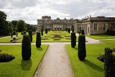 Orangerie and formal gardens (1862) GB_Lyme_Park_Cheshire_04  House, south lawn and former mill pond (ca. 1680-1720)