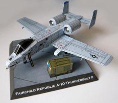 Fairchild Republic A-10 Thunderbolt II Free Aircraft Paper Model Download…
