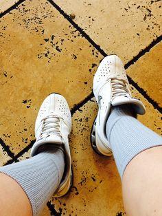 Grey Nike Socks W/ White Nike Reax #Swag