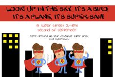 SUPERHERO Invitation {download}