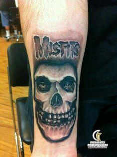 Yet another crimson ghost , gave the font a lil twist Tattoos For Guys, Cool Tattoos, Awesome Tattoos, Logan Tattoo, Misfits Tattoo, Boss Tattoo, Skull Tattoos, Tatoos, Punk Tattoo