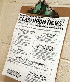 I've gotten many requests for a printer friendly Classroom Newsletter!! I have one in my store!! This version looks great in color AND in black and white. The Classroom Newsletter BRIGHT Stripes theme is the version I use in my classroom weekly. I print o
