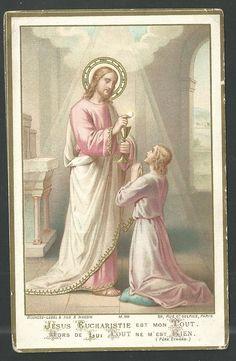 Salvator Mundi, Vintage Holy Cards, Spiritual Beliefs, Catholic Religion, Heart Of Jesus, Prayer Cards, Jesus Cristo, Roman Catholic, Christianity