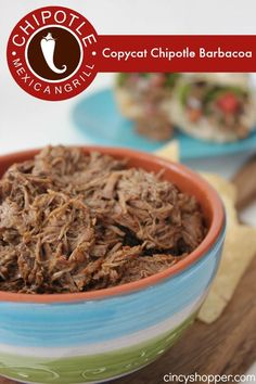 Copycat Chipotle Barbacoa Recipe. Save $$'s and make Chipotle at home using your Slow Cooker.