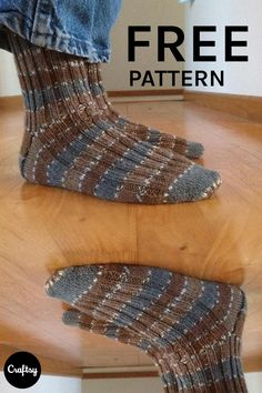 This basic sock knitting pattern has a fully ribbed cuff that is carried throughout the top portion of the sock, making them very comfortable. Knit a pair for yourself or a friend with our free pattern.