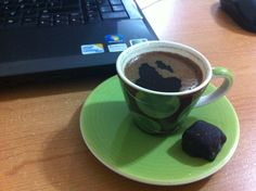 Good taste of coffee while studying