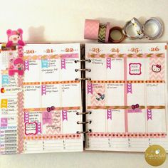 MsWenduhh Planning & Printing: How I Decorate and Plan My Weeks In My Erin Condren Planner - Week #43