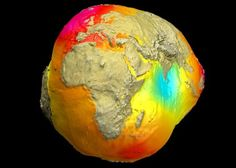 Geoid the Potsdam potato gravitational model, shows variations in Earth's gravity. Above: Geoid Potsdam Potato, is based on data from the LAGEOS, GRACE… Earth Science, Science Nature, Earth Gravity, Low Gravity, Faster Than Light, Astronomy Pictures, Hubble Pictures, Earth Surface, Space And Astronomy