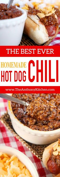 Easy Homemade Hot Dog Chili Recipe A quickfix hot dog sauce recipe featuring ground beef ketchup and the perfect mix of spices Its an upgrade to canned chili and a recip. Homemade Hotdog Chili Recipe, Homemade Hot Dogs, Quick Hot Dog Chili Recipe, Recipe For Chili Dog Sauce, Best Hot Dog Sauce Recipe, Hotdog Sauce Recipe, Coney Island Hot Dog Sauce Recipe, Gastronomia, Street Food