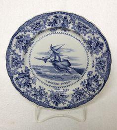 Staffordshire Witch Plate Salem