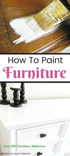 Learn how to paint furniture with these painting tips! Painting furniture DIY v… Learn how to paint furniture with these painting tips! Furniture Diy, Painting Furniture Diy, Painted Furniture, Furniture Makeover Diy, Pretty Furniture, Diy Furniture, Furniture Renovation, Diy Furniture Table, Furniture Design Inspiration