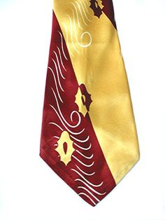 Vintage 1940s necktie . Cravats Art Deco tie . worn by Fred Willard