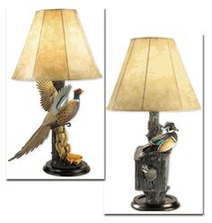 Exceptionnel Loon Lake Wildlife Table Lamps
