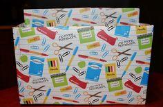 DIY Stylish Teacher or Craft Storage Organizer Box #organize