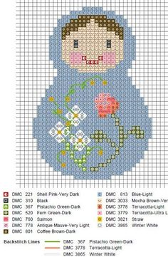 matryoshka cross stitch chart ^