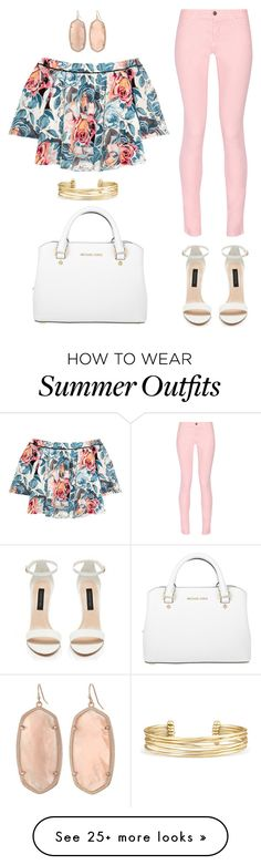 Summer outfit 6.10.16 by glamupparties on Polyvore featuring Maison Kitsuné, Elizabeth and James, Michael Kors, Kendra Scott and Stella Dot