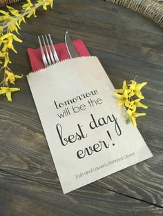 Tomorrow will be the Best Day Ever Rehearsal by SALTEDPrintingCo