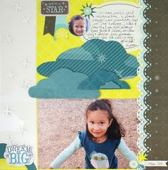 You're a Star - Dream Scrapbooking Layout from Creative Memories  http://www.creativememories.com