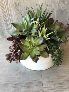 Faux Succulent Artificial Preserved Moss Ceramic Container Permanent Realistic Succulents NEVER WATER Cactus Planter Home Office Restaurant Porch Plants, Fake Plants Decor, House Plants Decor, Faux Plants, Potted Plants, Succulent Planter Diy, Succulent Landscaping, Succulent Arrangements, Succulent Care