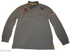 9c9e803abe7eb Details about NWT Ralph Lauren Polo Men s Rustic Vintage Patch Rugby Shirt   185
