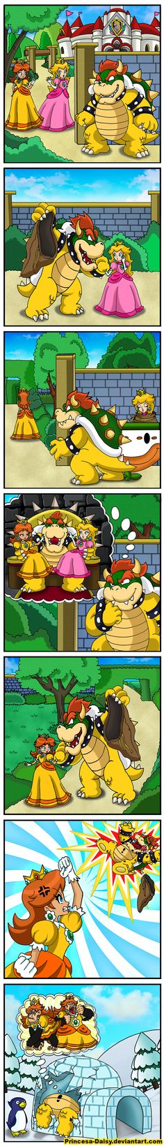 Now that Mario & Luigi Paper Jam Bros is near, I'm eager to see the glorious dialogue of not only Bowser but Paper Bowser too. Bowser and Luigi are . Nintendo Super Smash Bros, New Super Mario Bros, Super Mario Art, Super Mario Brothers, Princesa Daisy, Mario Funny, Luigi And Daisy, Mario Comics, Mario Video Game