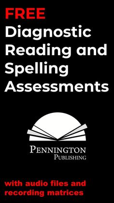 FREE comprehensive diagnostic reading and spelling assessments with recording matrices and audio files. Teaching Reading Strategies, Reading Resources, Reading Comprehension, Literacy Assessment, Reading Assessment, Response To Intervention, Reading Intervention, Intervention Specialist, Phonics Books