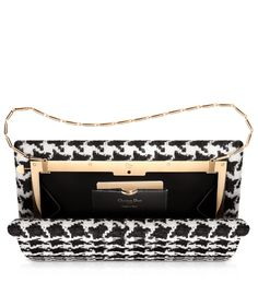 """DIOR EVENING - Black and white tweed """"Dior Evening"""" clutch bag."""
