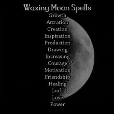 What Types of Spell Work To Do By: Moon Phase - Waxing Moon