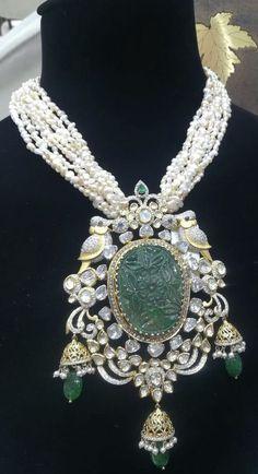 Diamond Studs, Diamond Pendant, Gems Jewelry, Beaded Jewelry, Feel Unique, Jewellery Designs, Indian Jewelry, Pendants, Necklaces