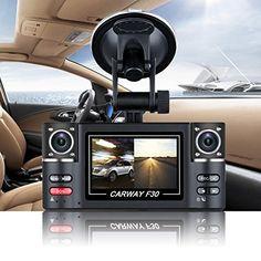 "Floureon 2.7"" TFT LCD HD 1080P Dual Camera Rotated lens Car DVR Vehicle Digital Video Recorder Night Vision Rear view Dash Cam"