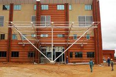 TC News www.tensilecables.co.za - Photostory: Installation at the University of Botswana