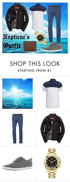 """""""Neptune's Outfit"""" by nebula-773 on Polyvore featuring Luke, Scotch & Soda, Superdry, Arider, Rolex, men's fashion and menswear"""