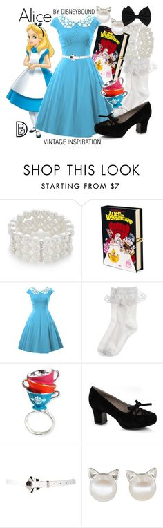 """""""Alice"""" by leslieakay ❤ liked on Polyvore featuring Kim Rogers, Olympia Le-Tan, Disney, Monsoon, Disney Couture, Ellie, Dorothy Perkins, vintage, disney and disneybound"""