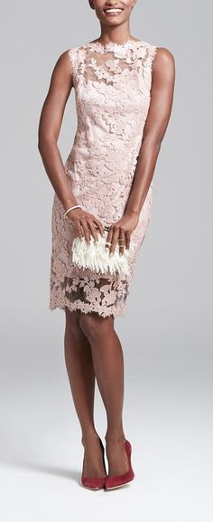 Tadashi Shoji Lace Dress & Accessories available at Mob Dresses, Short Dresses, Bridesmaid Dresses, Bride Dresses, Lace Dresses, Mother Of Groom Dresses, Mothers Dresses, Vestidos Mob, Nordstrom Dresses