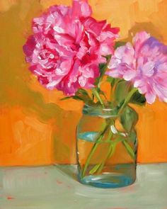 """Pink Peonies"" - Original Fine Art for Sale - © Sandy Haynes"