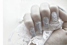 11 Bridal Nail Art Designs So Killer, You Can Flaunt Your Ring With Confidence Lace Wedding Nails, Wedding Nail Polish, Bridal Nail Art, Wedding Manicure, Wedding Nails Design, Wedding Lace, Bridal Lace, Wedding Beauty, Wedding Dress