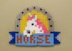 White Horse Perler Bead Sprite by GiftedChild777 on deviantart
