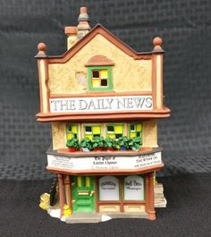 """Department 56 Dickens Village Series """"The Daily News"""" First Edition # 56.58513"""