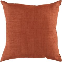 """Storm 22"""" Outdoor Pillow in Rust design by Surya (160 BRL) ❤ liked on Polyvore featuring home, outdoors, outdoor decor, pillows, outdoor throw pillows, outdoor accent pillows, surya, outdoor pillows and outdoor toss pillows"""