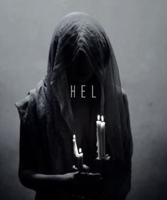 In Norse mythology, Hel is the goddess of death and the afterlife who presides over a realm of the same name, located in Niflheim. She is the youngest child of the trickster god Loki and the giantess Angrboða. She is often described as a hag; half alive and half dead, with a gloomy and grim expression. Her face and body are those of a living woman, but her legs are those of a corpse, mottled and moldering. Cast into Helheim by Odin, Hel receives a portion of the dead and distributes those wh