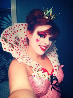 Queen of Hearts DIY costume | makeup