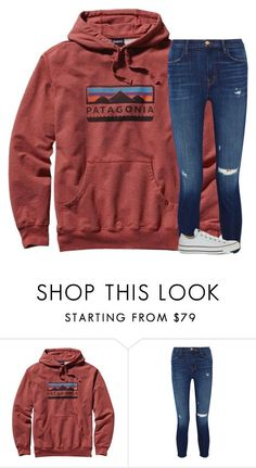 """Had one of the worst panic attacks "" by katherinecat14 ❤ liked on Polyvore featuring Patagonia, J Brand and Converse"