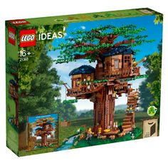 Tree House 21318 | Ideas | Buy online at the Official LEGO® Shop US Lego Tree House, Cool Tree Houses, Building A Treehouse, Building Toys, Lego Sets, Boutique Lego, Ri Happy, 2 Kind, Lego Builder