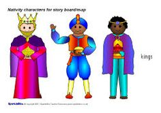 Nativity story cut-out characters (SB1113) - SparkleBox