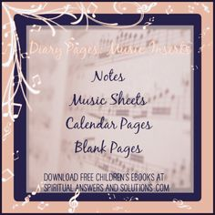 Free Activity Books for #Kids ❤ #Music