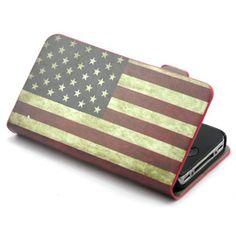 Beiuns - Flip Funda de cuero - Retro USA bandera nacional - para Apple iPhone 4 4S Estados Unidos United States Flag Gel Carcasa Tapa Shell Case Cover + 1 x Stylus - http://www.tiendasmoviles.net/2015/11/beiuns-flip-funda-de-cuero-retro-usa-bandera-nacional-para-apple-iphone-4-4s-estados-unidos-united-states-flag-gel-carcasa-tapa-shell-case-cover-1-x-stylus/