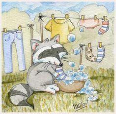 Illustration Laundry Day | Washing day by =yuki-the-vampire on deviantART