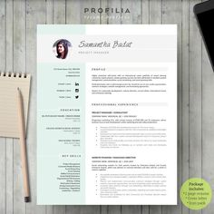 Resume Template  Alhena By Resume Templates On Creativemarket